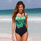 Peacock Women One-Piece Swimsuit Beachwear Swimwear Bathingsuit Plus Size