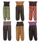 Ladies Printed Harem HIPY Pants Cuffed Bottom AliBaba Trousers,SOFT LINEN COTTON