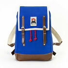 YKRA Matra Mini LS Blue Leather Cotton Backpack 14 L Zaino Zainetto