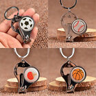 Ball Style Nail Clippers Bottle Opener Keychains Keyring Fashion Ball