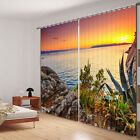 Beautiful view in the sunset 3d digital Blackout curtains