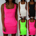 Us Women Summer Sleeveless Bodycon Casual Party Evening Beach Short Mini Dress