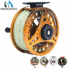 Fly Fishing Reel with Line Fully Loaded 3/4WT 5/6WT 7/8WT Silver Aluminum