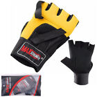 Weight lifting Body Building Training Gym Exercise Gloves Gel Padded Grip Strap