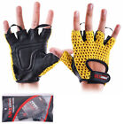 Weight Lifting Padded Training Gel Gloves Fitness Body Building Strap Gym Sports