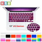 German Language US Keyboard Silicone Skin Protector For Macbook Air Pro13 15 17