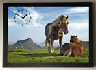 Moorland Ponies A4 Picture Clock