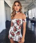 Women off shoulder short mini Dress Boho Evening Party Beach summer sundress New