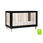 Babyletto Lolly 3-in-1 Convertible Crib in Black and Washed Natural