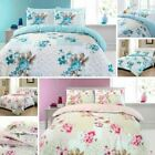 Deluxe Rose Floral 100% Cotton Quilt Duvet Cover Pillowcase Bedding Set