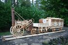 Laser cut wood Stephenson's Rocket Train and Passenger Carriage 3d puzzle / Kit