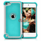 For Apple iPod Touch 5   6 th Gen Hybrid Defender Slim Armor Impact Case Cover