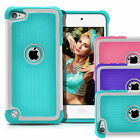 For Apple iPod Touch 5 / 6 th Gen Hybrid Defender Slim Armor Impact Case Cover