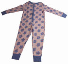 Girls All in One Pyjamas Nightwear Cotton NEW Pink Lilac Pjs Size Ages 7-8Y