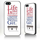 Motivational quote fitsrest Gump phone case Fits iPhone