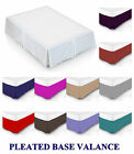 Plain Dyed Poly Cotton Platform Base Valence Box Pleated Sheet Different Sizes