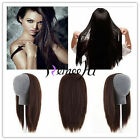 3/4 Half Wig halo 100% Indian Remy Human Hair Half Wig Silky Straight Weft Cap