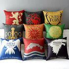 "17"" Square Game of Thrones Cotton Linen Decor Throw Pillow Case Cushion Cover"