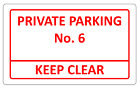 Personalised NO PARKING large A4 aluminium metal wall sign