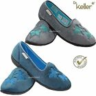 LADIES DR KELLER MACHINE WASHABLE SOFT WIDE FITTING FULL SLIPPERS HOUSE SHOES