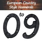"""4"""" Tall High Quality Solid Iron House Address Numeral    Singles / 4 Pack"""