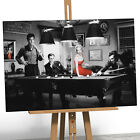 Marilyn Monroe Canvas Print Picture Elvis Presley James Dean Playing Pool Table