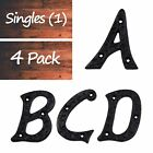 """3"""" Tall High Quality Solid Iron Metal House Address Letter    Singles / 4 Pack"""