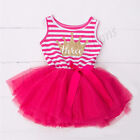 Baby Girls kids First 3rd Birthday Dress Outfit Tutu Skirt Princess Party gift