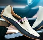 Stylish Mens Flats Driving Moccasin Loafer Casual Comfort Leather Soft Shoes New