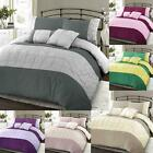 Luxury Embellished Pintuck Duvet Cover Set Quilt Single Double King Size Bedding