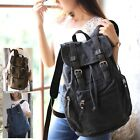 Retro CANVAS LEATHER BACKPACK RUCKSACK Bag School College Uni Men Women S8078