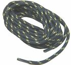 Storm Grey w/Yellow Heavy Duty Kevlar reinforced boot laces shoelaces - 2 Pair