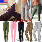 Us Womens High Waist Sports Leggings Gym Fitness Yoga Workout Slim Stretch Pants