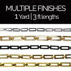 Solid Brass Decorative Geometric Chandelier Lighting Chain #1 | (1 yard or 3 ft)