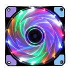 1xDIY 12V LED Light Quiet Clear 12cn Cooling Cooler Fan For PC Computer Case Mod