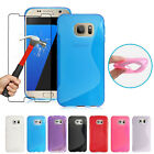 Shockproof Protective Case Cover & Tempered Glass For Samsung Galaxy A8 J6 A3 A5