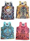 Womens Cotton Mirror T Shirt Vest Colourful Abstract Summer Boho Skater Medium