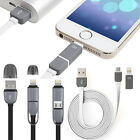 2 in 1 Micro USB Data Sync Cable Charger Lead For iPhone 5 5C 5S SE 6 6S 7 Plus