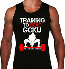Training to Beat Goku or at least Krillin Men Tank top Workout Gym DBZ fans