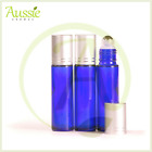 10 x10ml Thick Cobalt Blue Rollerball Bottle/Roll On Bottles/Steel Roller Ball