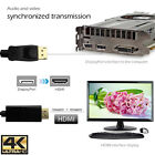 10FT DisplayPort HDMI Cabel Video Converter Adapter DP Desktop 4K 2160P Full HD