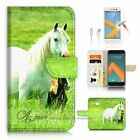 HTC 10 Wallet Case Cover AJ20202 White Horse
