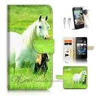 HTC Desire 510 Wallet Case Cover AJ20202 White Horse