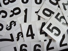 """75mm 3"""" Black on White Sticky Numbers, Numbering Stickers, Plastic Labels"""