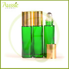 10 x10ml Thick Green Rollerball Bottle/Roll On Bottles/Steel Roller Ball