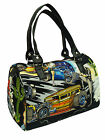 "US HANDMADE DOCTOR BAGS WITH  ""CARS"" 50's PATTERN ,COTTON,  NEW"