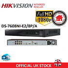 HIKVISION CCTV NVR 8CH IP 1080P CHANNEL HIGH DEFINITION POE DS-7608NI-E2/8P/A