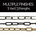 Solid Brass Large Un-Welded Chandelier Lighting Chain #23 | (1 yard or 3 ft)