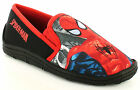 New Boys Spiderman Character Black Slippers Christmas Present Or Gift UK SIZES