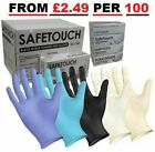 Disposable Latex, Black Nitrile or Blue Vinyl Gloves Powder Free - 100 Boxed